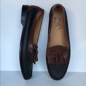 Cole Haan16D made in Brazil blk/brn leather loafer